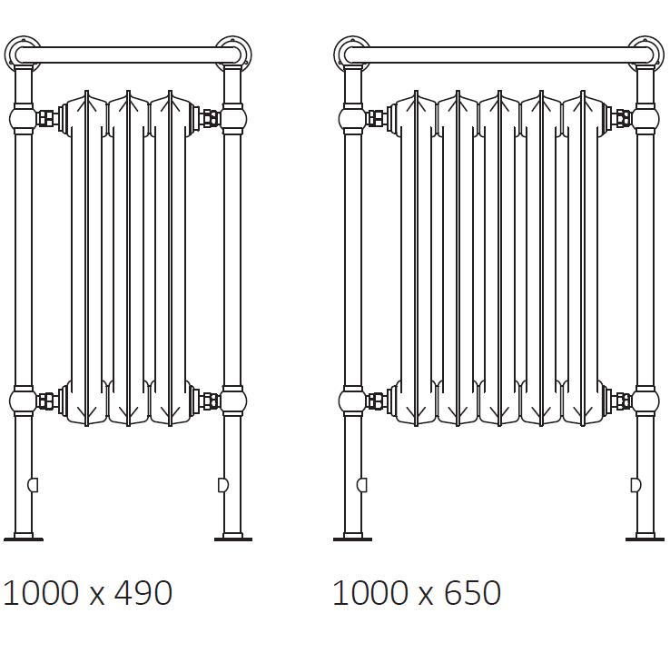 size: Plain Towel Rail 1000