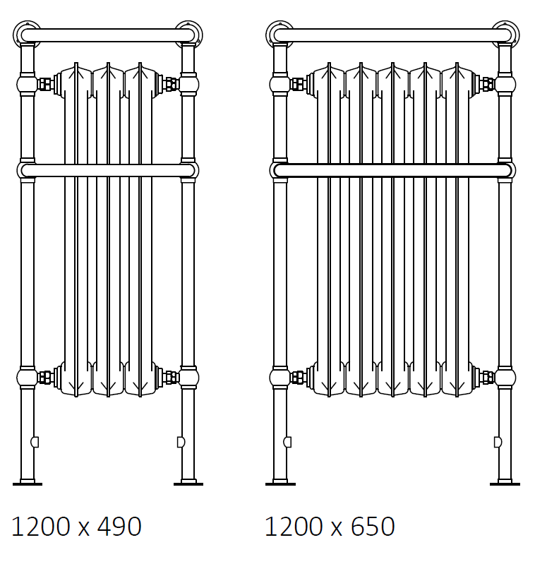 size: Plain Towel Rail 1200