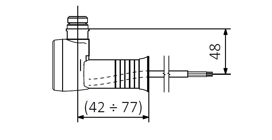 M - kabel prosty bez wtyczki z maskownicą