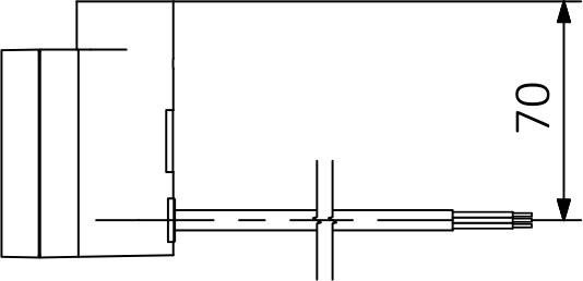 Kabel prosty bez wtyczki (P)
