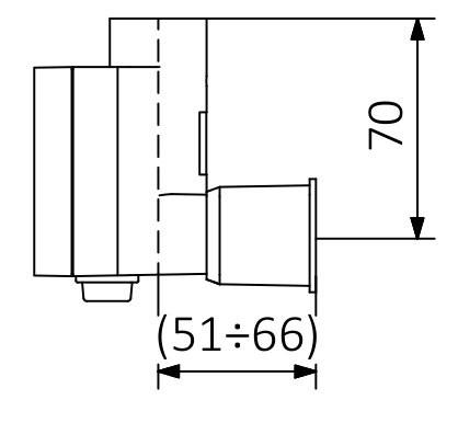 Bez kabla (przyłącze śrubowe z maskownicą) (S)
