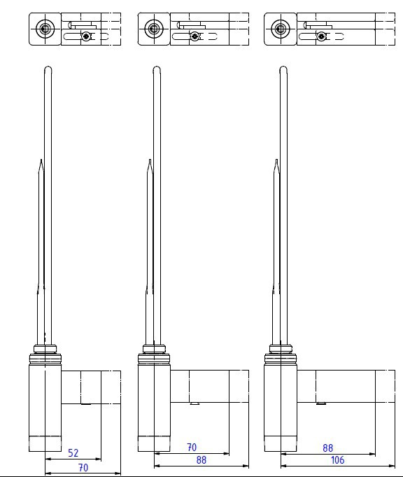 <p>M - kabel prosty bez wtyczki z maskownicą.</p>  <p>Maskownice występują w trzech długościach.</p>