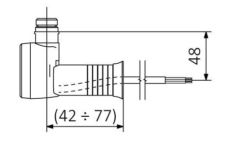Kabel prosty bez wtyczki z maskownicą (M)
