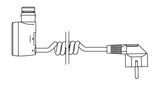 U - kabel spiralny z wtyczką