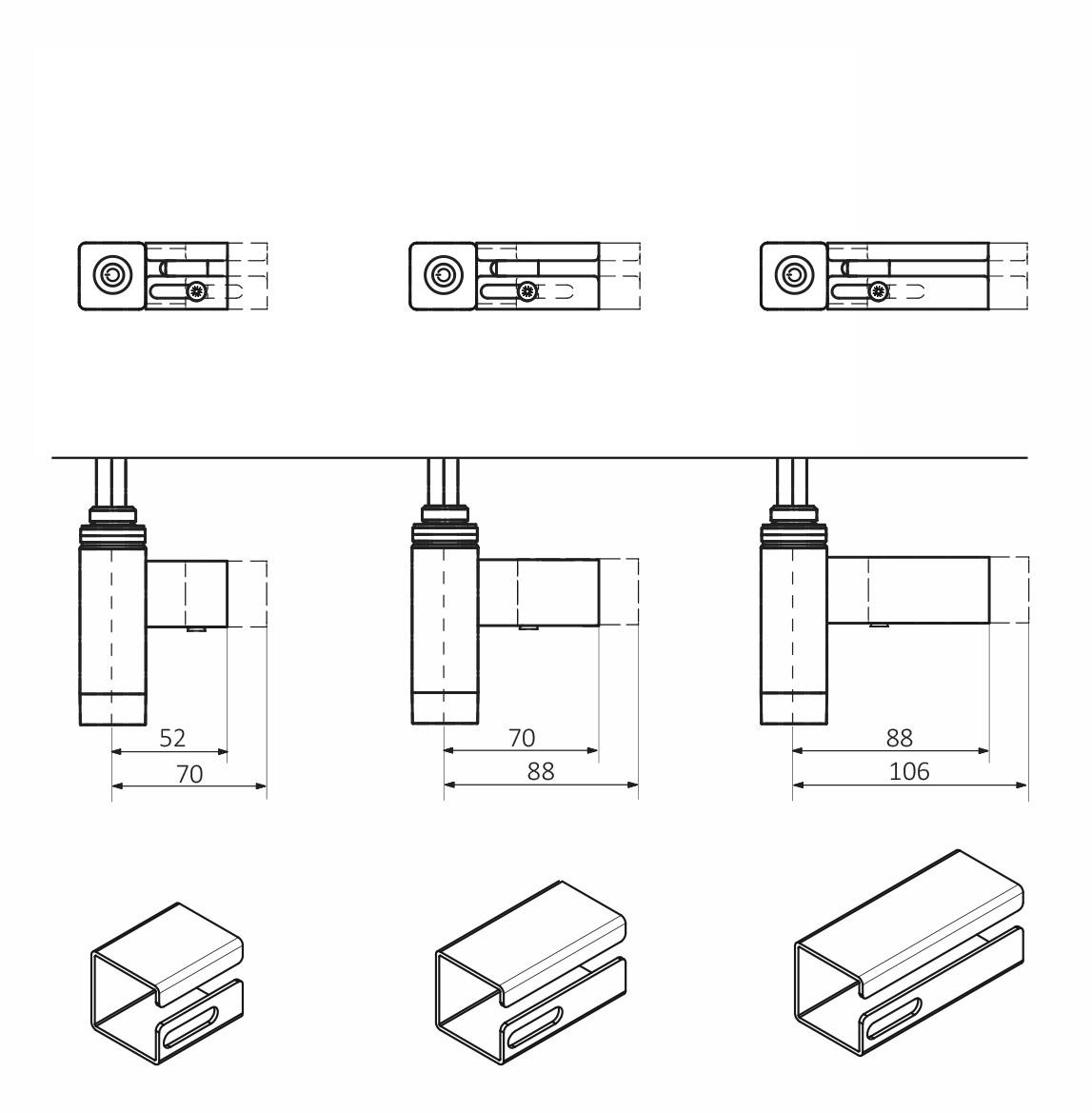 <p>M - kabel prosty bez wtyczki z maskownicą (standardowa długość maskownicy: 52-70 mm)</p>