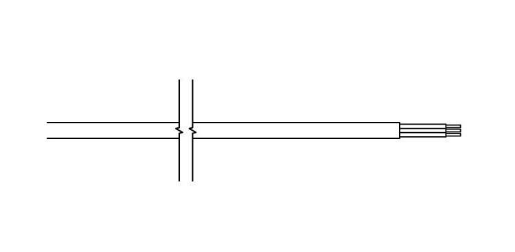 <p>P - kabel prosty bez wtyczki</p>