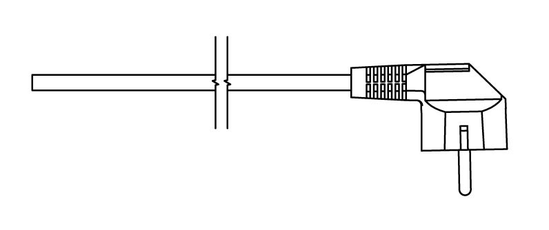 Kabel prosty z wtyczką (W)