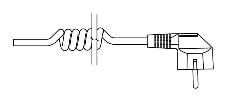 Kabel spiralny z wtyczką (U)