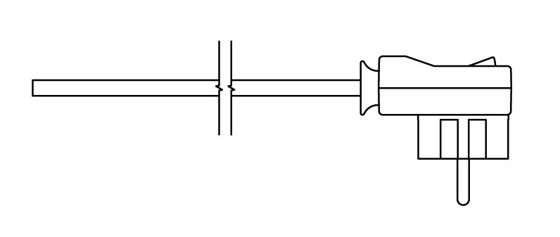 Kabel prosty z wtyczką i włącznikiem (R)