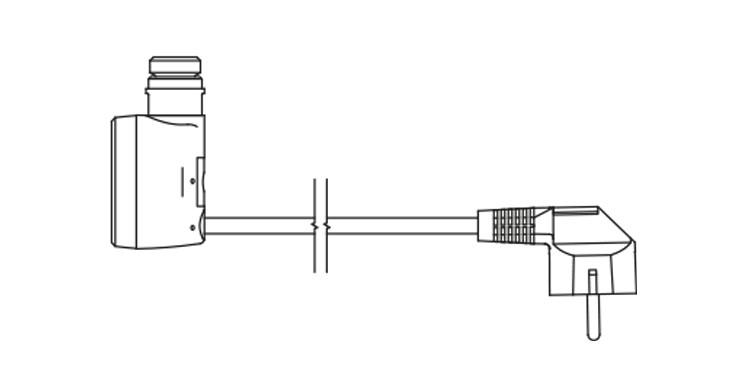 <p>W - kabel prosty z wtyczką</p>